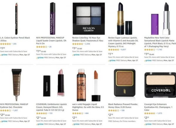 Makeup and Beauty deals under $5.00