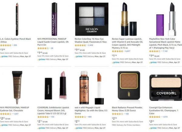 Makeup and Beauty deals under $3.00