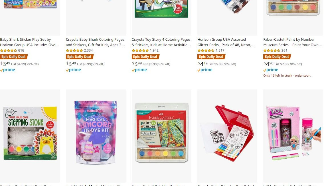 Expired: 50% off Arts, Crafts & Toys