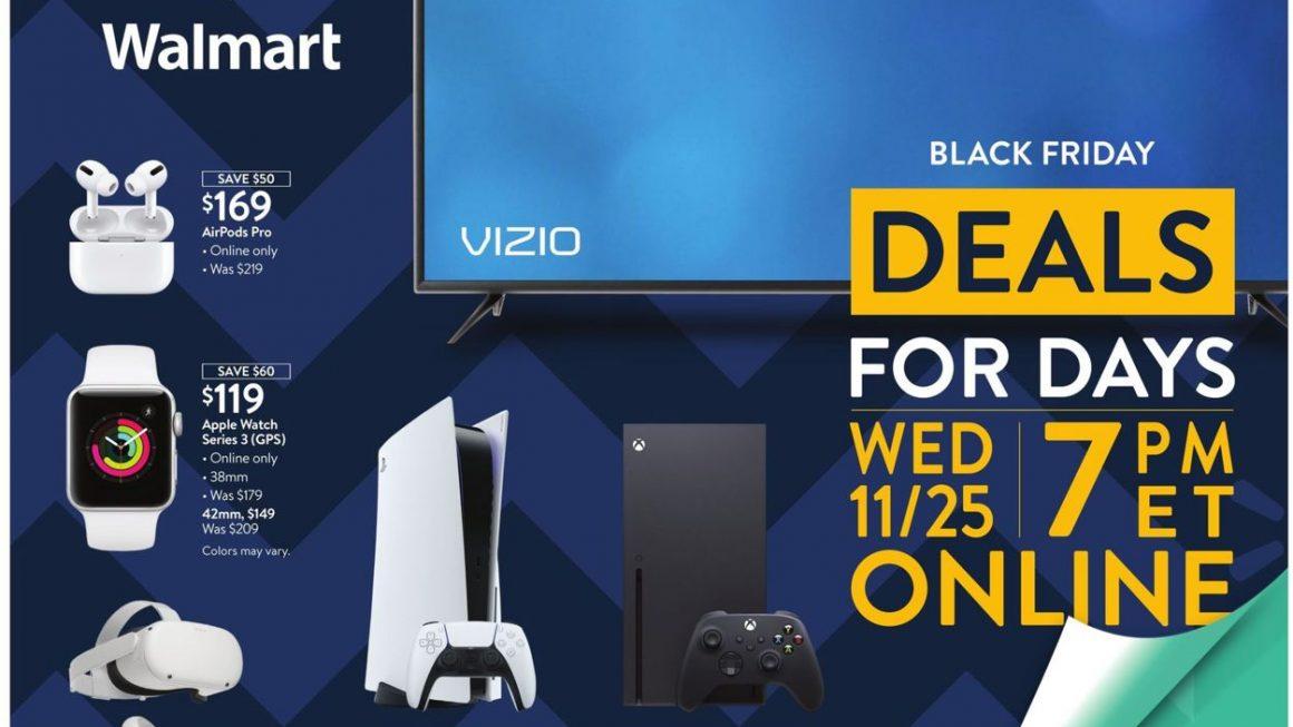 Walmart Black Friday Nov 25th-28th 2020