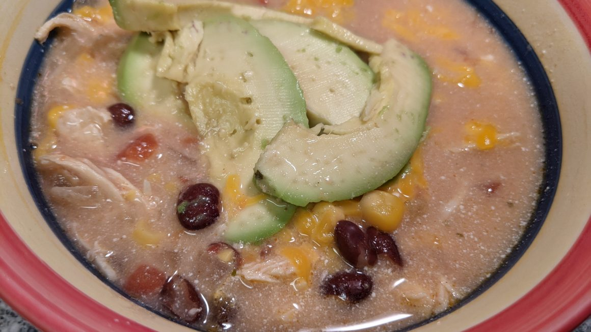 Slow Cooker Creamy Chicken Taco Soup